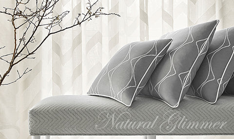 Anna French Fabric Natural Glimmer