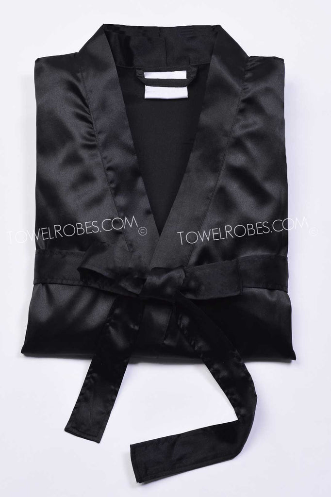 Black-Color-Towelrobes-Satin-Kimono-Bridesmaid-Robes