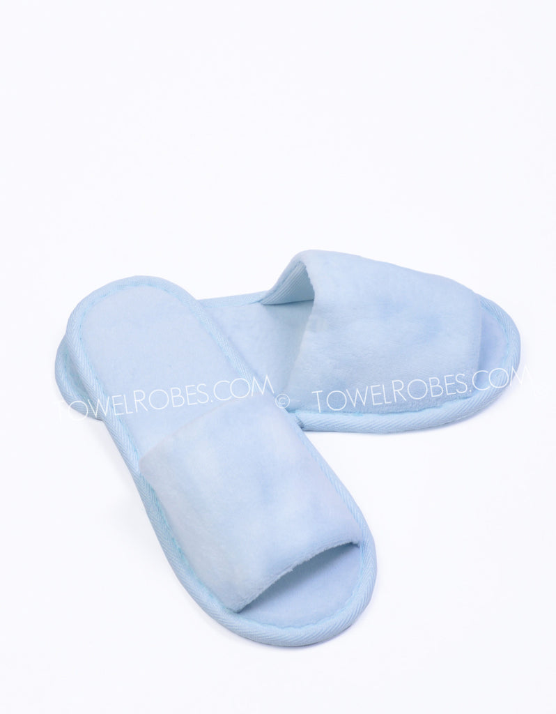 Sky-Blue-Kids-Terry-Cloth-Open-Toe-Spa-Slippers