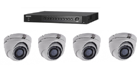 Ness-Hikvision 4 Channels DVR and 4 x 3MP Cams Analogue/HD-TVI KIT (2TB Fitted)