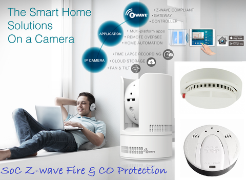 Z-Wave SoC gateway Controller & Fire alarm + CO Detectors Kit