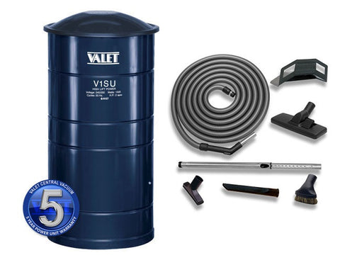 Valet Central Vacuum V1SU.2 9m STD Hose & Toolkit Kit