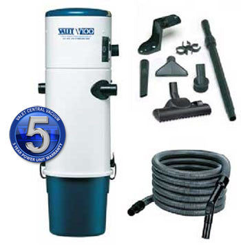 Valet Central Vacuum V100 Premium Cyclonic SWITCH Hose & Toolkit