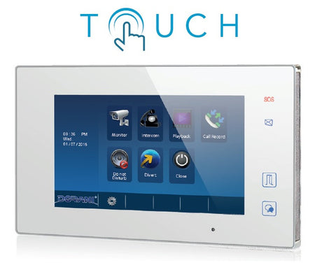 dorani 7 0 touch monitor only idomus intercom systems wiring diagram dorani 7 0 touch monitor only