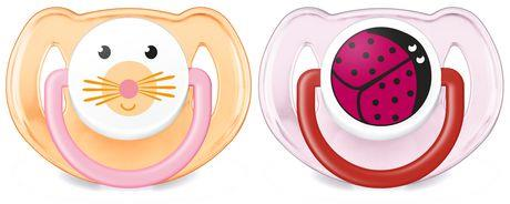 Avent Animal Silicone Pacifier 6-18 Months Girl