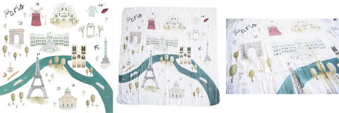 Loulou Lollipop Swaddle Blanket Paris