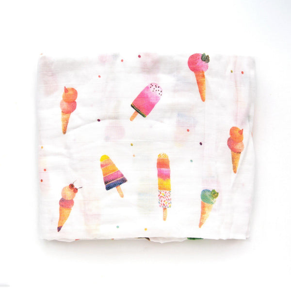 Loulou Lollipop Swaddle Blanket Ice Cream