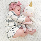 Living Textiles Knitted Plush Toy Kenzie the Unicorn