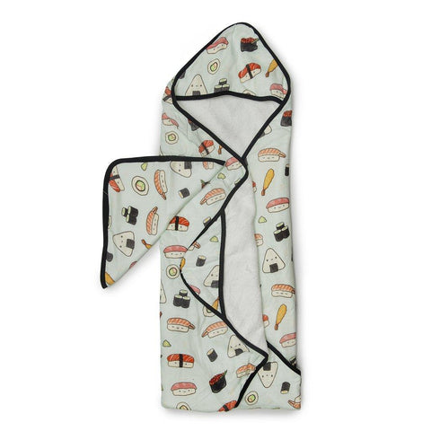 Loulou Lollipop Hooded Towel And Washcloth Set Sushi