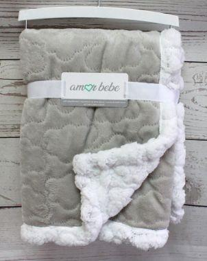 Amor Bebe Cloud Plush Blanket (Grey)
