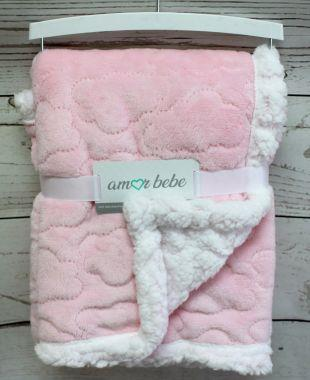 Amor Bebe Cloud Plush Blanket (Pink)