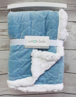 Amor Bebe Cloud Plush Blanket (Blue)