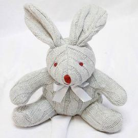 Baby Mode Cable Knit Bunny Grey