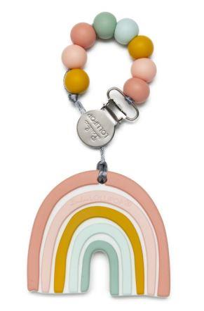 Loulou Lollipop Rainbow Teether With Holder