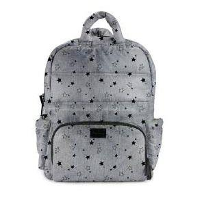 7AM Enfant BK718 Diaper Bag Heather Grey Stars