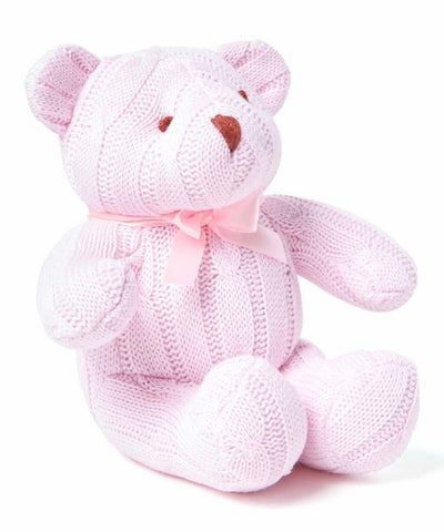 Baby Mode Cable Knit Bear Pink