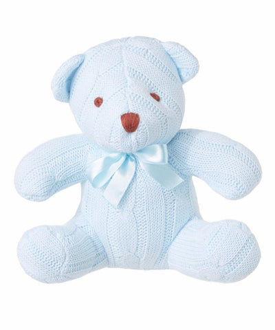 Baby Mode Cable Knit Bear Blue