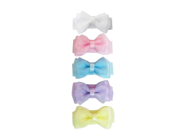 Baby Wisp Small Snap Chic 5 Pack - Perfect Pastels