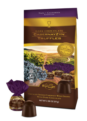 Dark Chocolate Covered CabernayZyn Truffles - Pantry Caddie with 6 Gift Bags