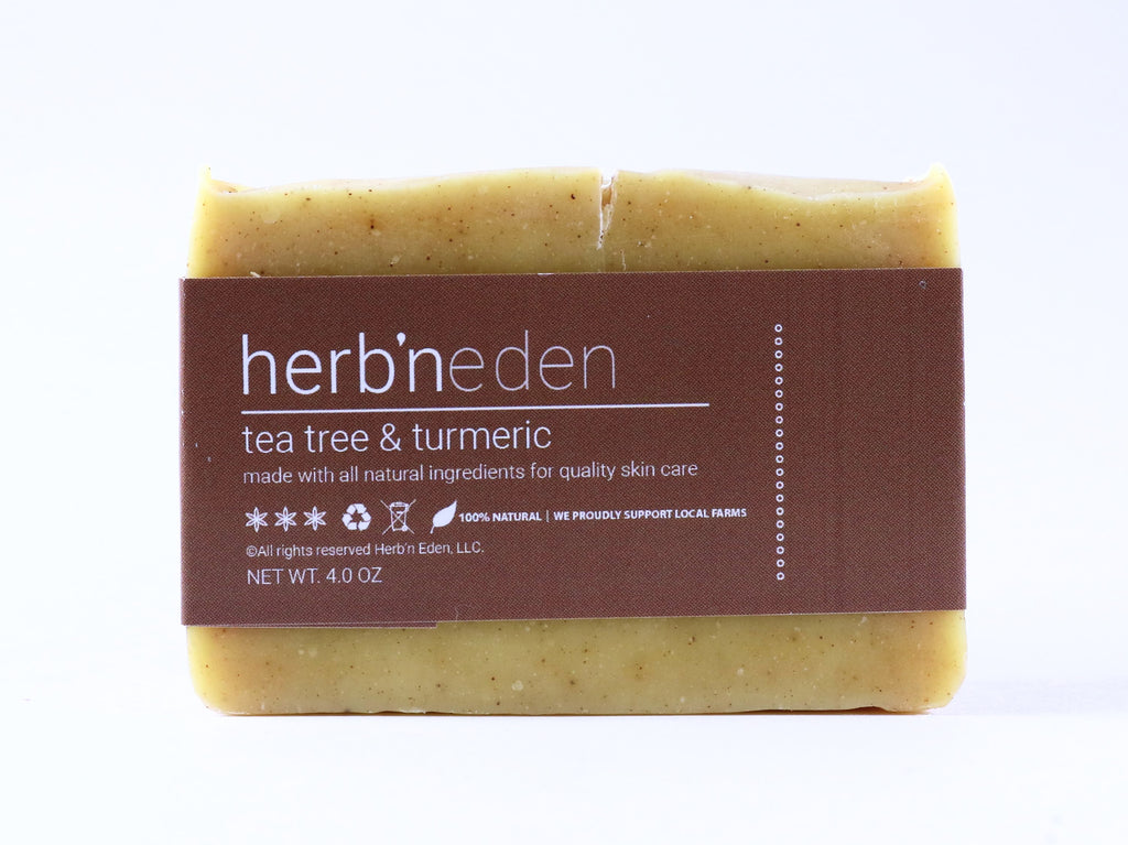 Benefits of Using Our Tea Tree & Turmeric Soap