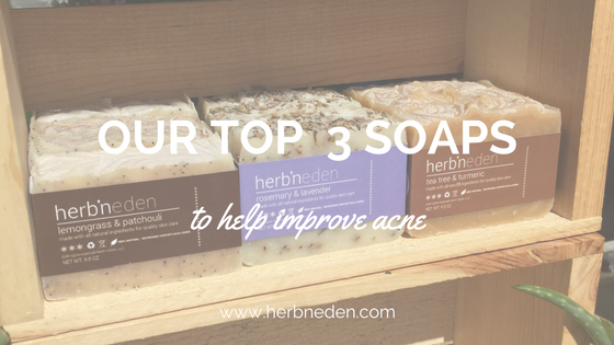 Our Top 3 Soaps To Treat Acne