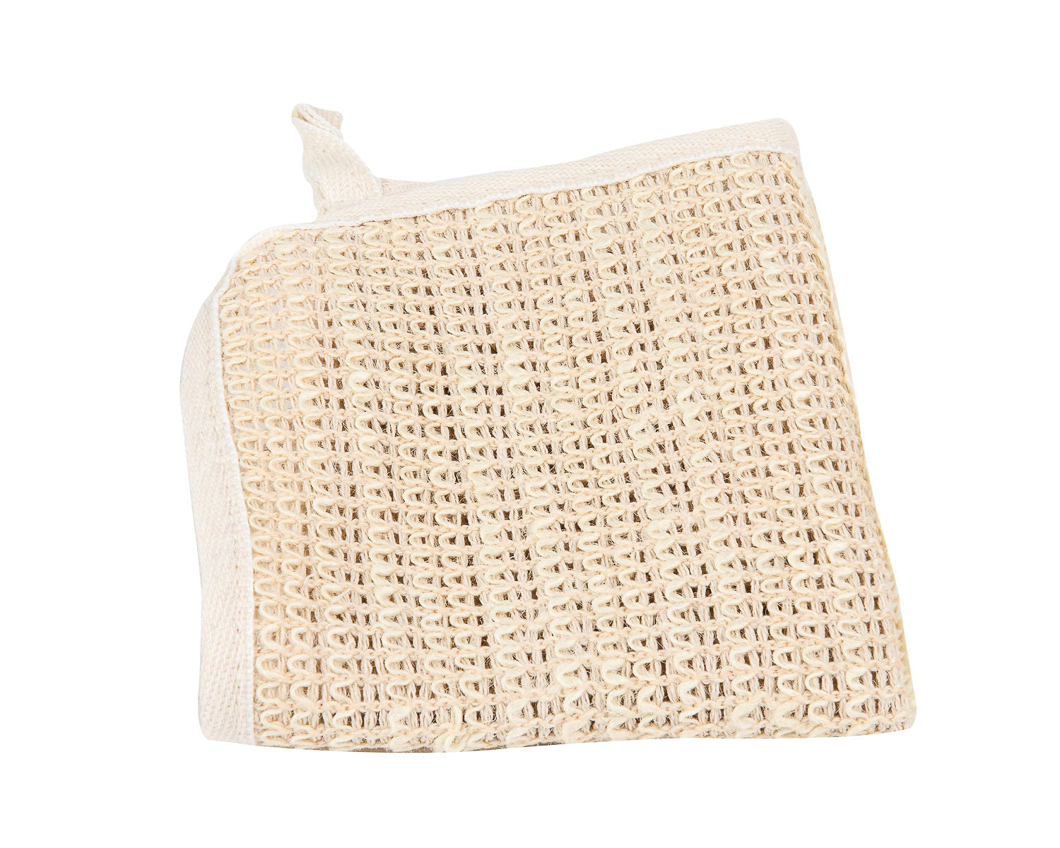 Sisal natural washcloth