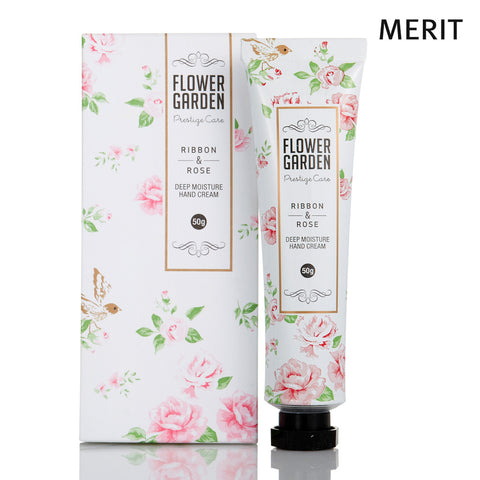 Flower Garden Ribbon & Rose Deep Moisture Hand Cream 50g
