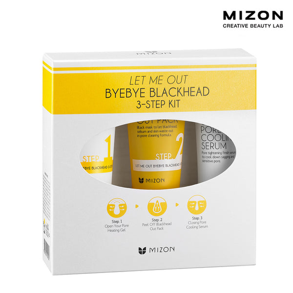 Let Me Out Bye Bye Black Head 3-Step Kit