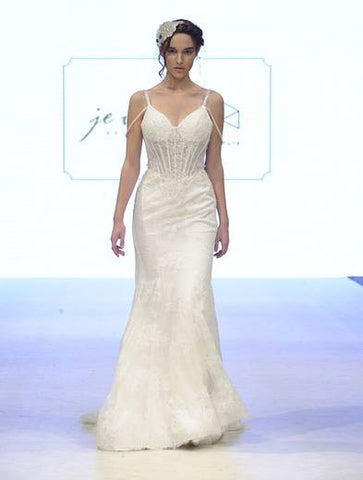 BD11 - Sheer Corset Lace Bridal Gown