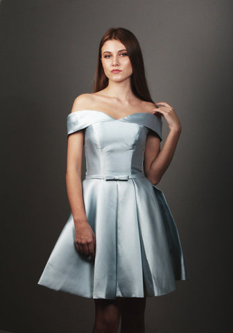 BM-2 Satin Bridesmaid Dress