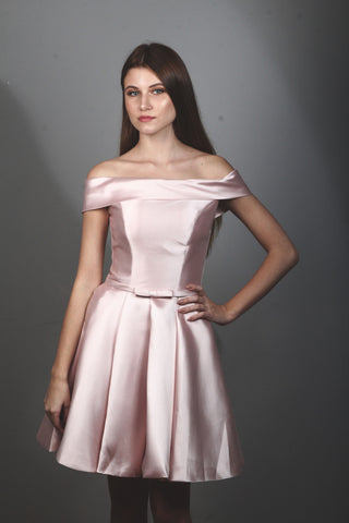 BM-3 Satin Bridesmaid Dress