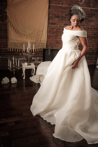 "BD21 - Off the Shoulder ""Cinderella"" Wedding Ball Gown"