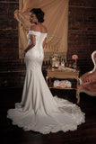 BD15 - Off-the-Shoulder Wedding Dress with Cape