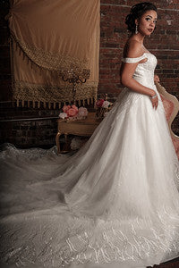 BD20 - Off the Shoulder Wedding Ball Gown