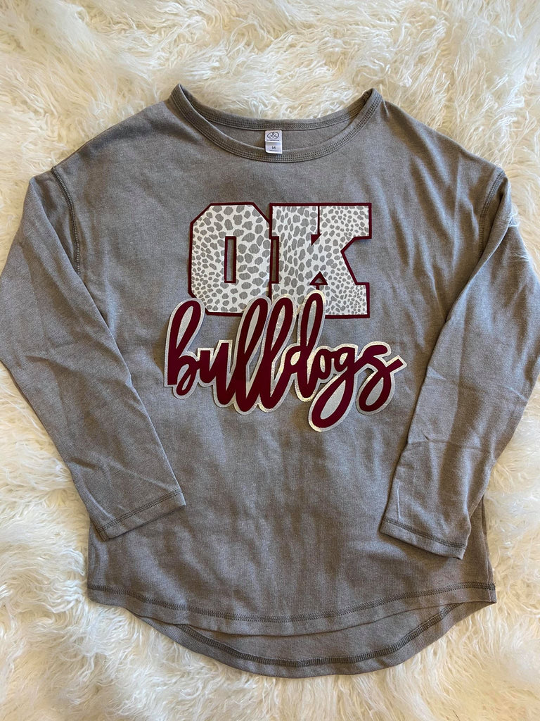 OK BULLDOGS LONG SLEEVE THERMAL PULLOVER
