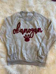 OKANOGAN + PAW PRINT FLEECE CREW