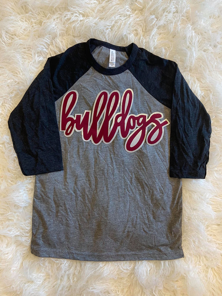BULLDOGS BASEBALL TEE