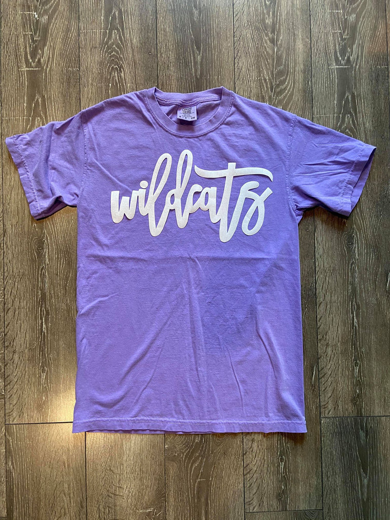 WILDCATS PURPLE COMFORT COLORS TEE