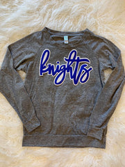 KNIGHTS LONG SLEEVE SLOUCHY PULLOVER