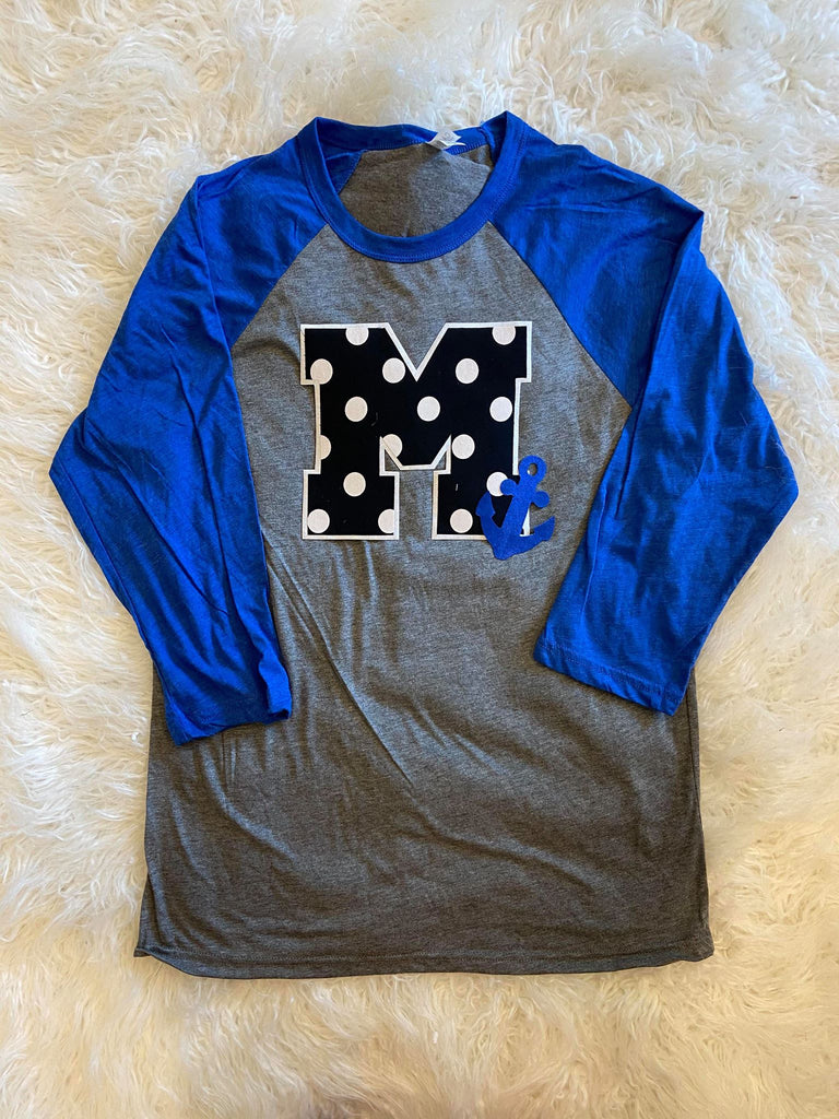 M + ANCHOR BASEBALL TEE (YOUTH + ADULT)