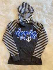 CLIPPERS + ANCHOR STRIPE HOODIE