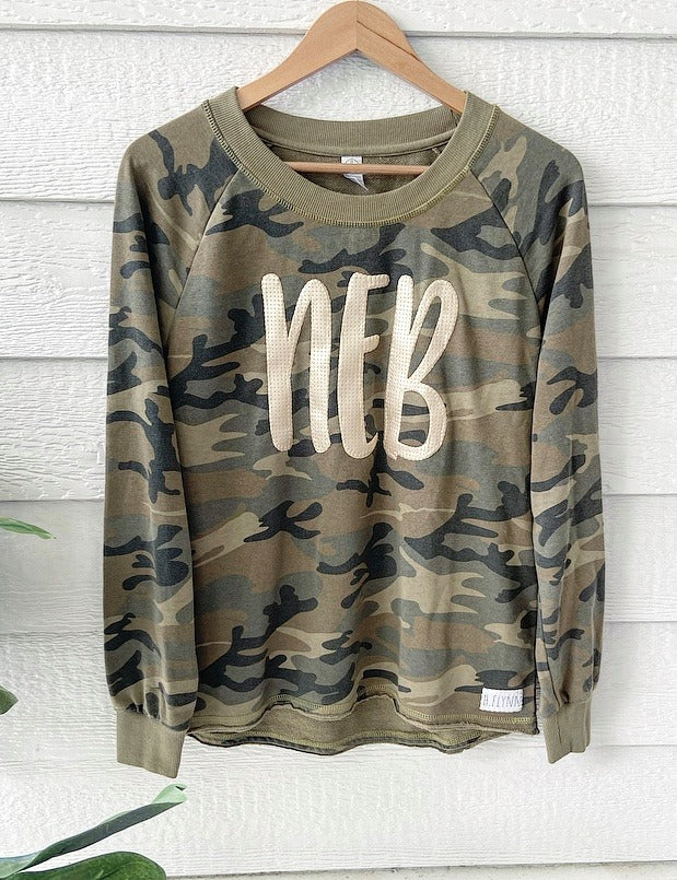 GOLD LEATHER NEB - LIGHTWEIGHT CAMO CREW
