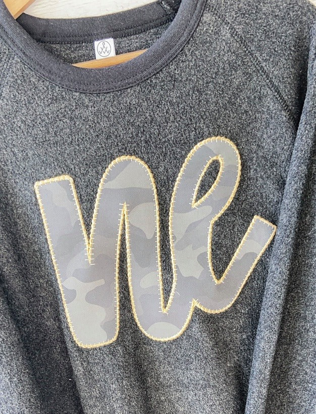 CAMO/ GOLD NE - BLACK TEDDY CREW