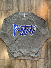 P-STATE - GREY TEDDY FLEECE CREW