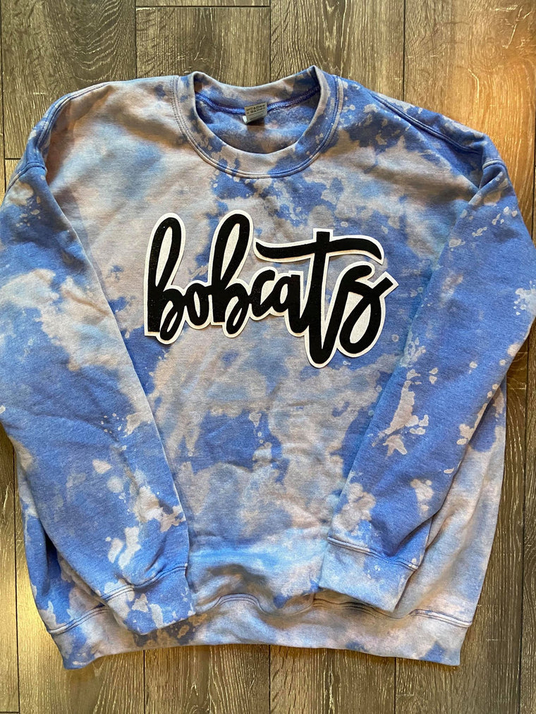 BOBCATS - BLUE DYED CREW