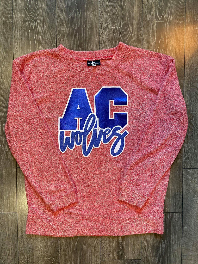 AC WOLVES - RED COZY CREW