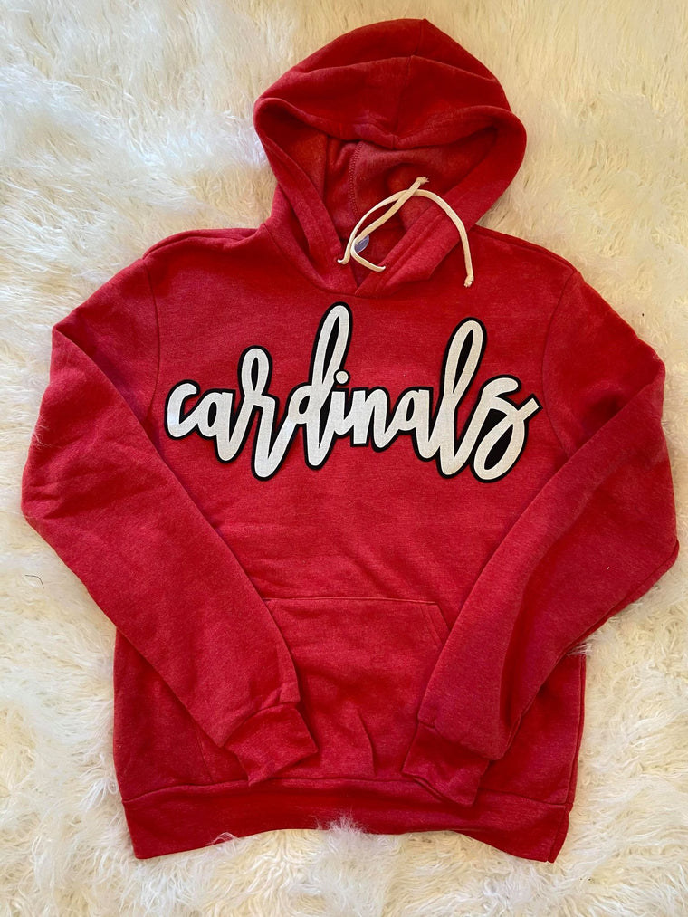 CARDINALS - RED UNISEX FLEECE HOODIE