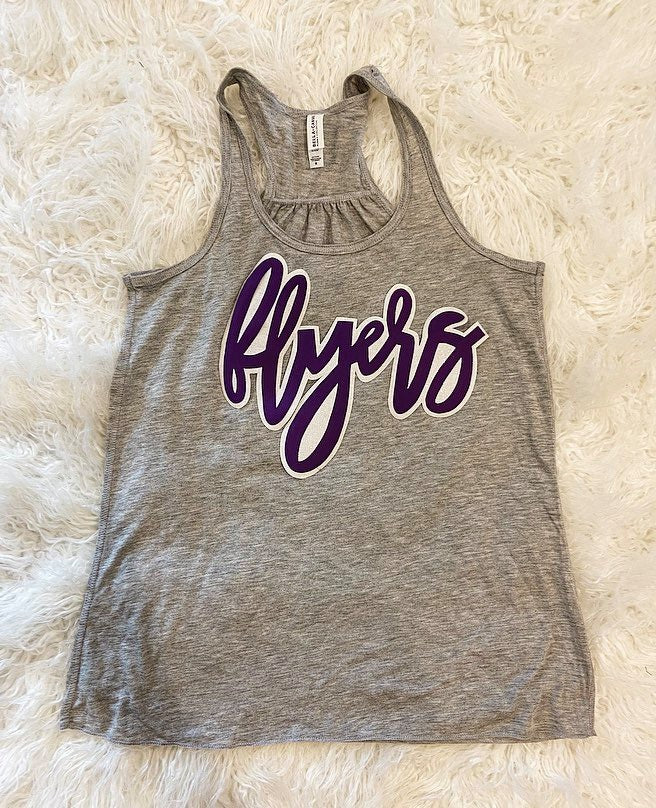 FLYERS - GREY RACERBACK TANK