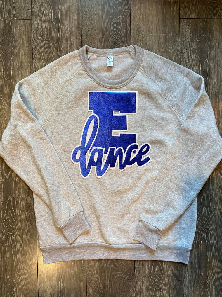 E + DANCE - GREY FLEECE CREW
