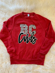 BC CARDS - RED FLEECE CREW